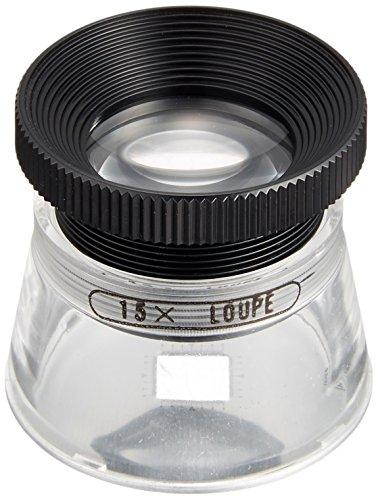 MIZAR-TEC 高倍率ルーペ 倍率15倍 レンズ径21mm 0.1mm目盛り付き 日本製 RCS-15