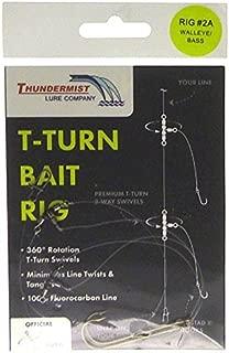 Thundermist Lure Company Bass Walleye Trout & Pike T-Turn Bait Rig, Clear