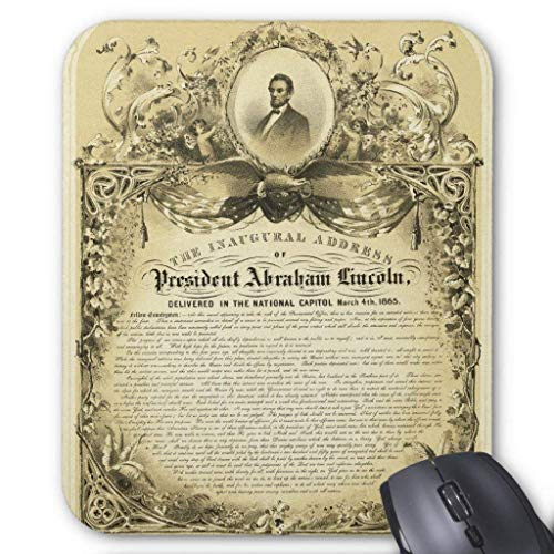 Inaugural Address of Abraham Lincoln March 4 1865 Mouse Pad 18×22 cm