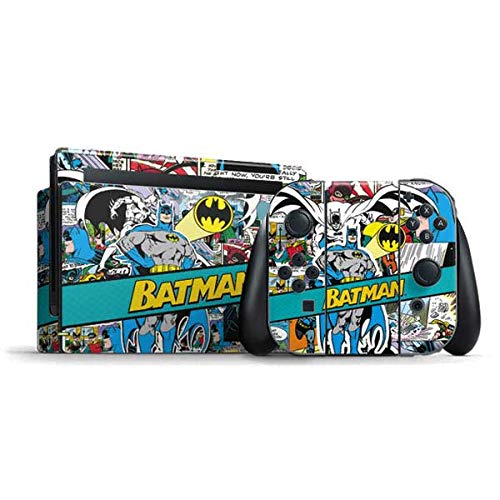 Skinit Decal Gaming Skin Compatible with Nintendo Switch Bundle - Officially Licensed Warner Bros Batman Comic Book Design