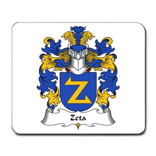 Zeta Family Crest Coat of Arms Mouse Pad