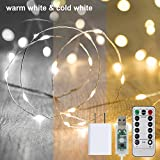 33Ft 100Led Fairy Lights 16 Colors 8 Modes USB Plug in String Lights Christmas Lights with Remote Multi Color Changing Twinkle Firefly Lights for Christmas Decor Bedroom Wedding Party,Style2
