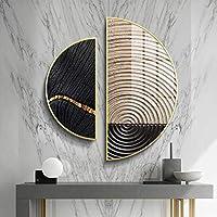 リビングルームベッドルームスタディルームインテリアで使用手作りクリエイティブリビングルームの装飾絵画「オレンジスライス」、3pcsのモダンなライトラグジュアリースタイルホームアートウォールデコレーション、,C