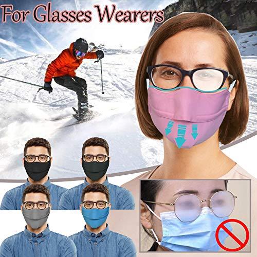 NO/A Adult Prevent Fogging_Maske für Brillenträger Einstellen der Schnalle Outdoor Sport Cycling Mask 5pcs