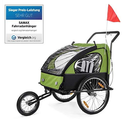 SAMAX Remolque de Bicicleta para Niños Kit de Footing Transportín Silla Cochecito...