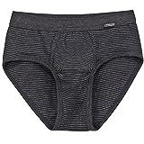 2er Pack Ammann Herren Slip – Brief mit Eingriff – Unterhosen aus Baumwolle und Polyester – Doppelpack – Farbe Anthrazit - Größe 6
