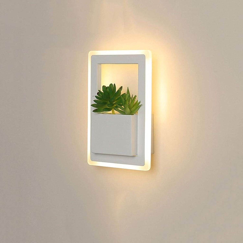 Wandlampe Kreative Simulation Sukkulenten LED Wandleuchte Wohnzimmer Esszimmer Schlafzimmer Gang Hintergrund Wand Studie Schmiedeeisen Dekorative Wandleuchte A ++ Einstellbare Wandleuchte