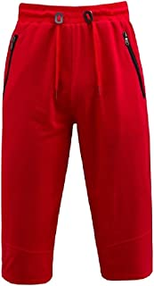 Mogogo Men's Shorts Big Trim-Fit Pure Color Casual Waist Tie Sport Baggy Pants