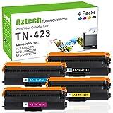 Aztech 4 Toner Compatibili per Brother TN-423 TN423 TN423BK TN423C TN423M TN423Y TN-421 Toner per Brother MFC-L8690CDW MFC-L8900CDW Stampante Brother HL-L8360CDW HL-L8260CDW DCP-L8410CDW Imprimante