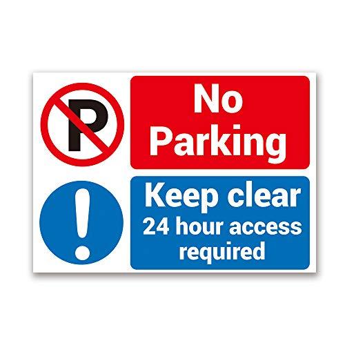 INDIGOS-parking-blanc-rouge 32 x 24 cm-alu-dibond parking only parkplatzschild