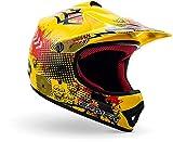ARMOR Helmets AKC-49 Casco Moto-Cross, DOT certificado, Bolsa de transporte, M (55-56cm), Amarillo