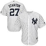 Jersey Baseball Hauptliga-Baseball Das Geschenk des Menschen # 27 Stanton New York Yankees,White,Men-L
