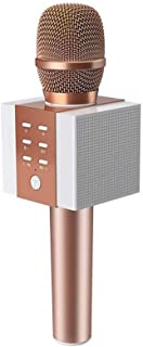 TOSING 008 Wireless Karaoke Microphone Bluetooth Speaker 2-in-1 Handheld Singing Recording Portable KTV Player Rose Gold