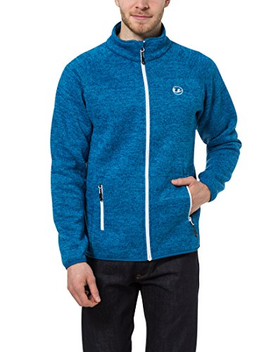 Ultrasport Herren Strickfleece Jacke Snug, Blau Danube/Weiß, XL, 11108