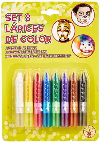 Rubies - Set de maquillaje de 8 lápices, accesorio disfraz (Rubies S8775)