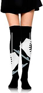 Nice-Guy, Patinaje sobre hielo Patines Calcetines de muslo sexy para mujer Medias altas sobre la rodilla