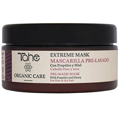 Tahe Organic Care Mascarilla Capilar Extreme Pre-lavado/Mascarilla para Cabello Fino con Propóleo y Miel, 300 ml