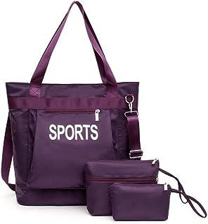 Fashion Sports Handbag 3 Piece Set Versatile Multi Piece Set (Color : Purple)