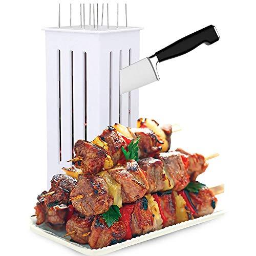 Wenhu Fácil Barbacoa Kebab Fabricante de brochetas de Carne del pincho Machine BBQ Grill Accesorios Herramientas del Conjunto con 16 Pinchos
