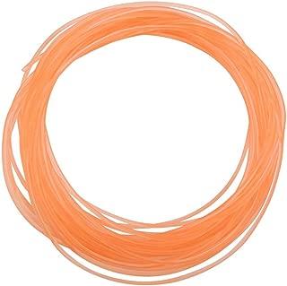 Polyurethane Round Belt, Smooth Surface High-Performance PU Transmission Belt Urethane Round Belt for Drive Transmission Orange(2mm10m)