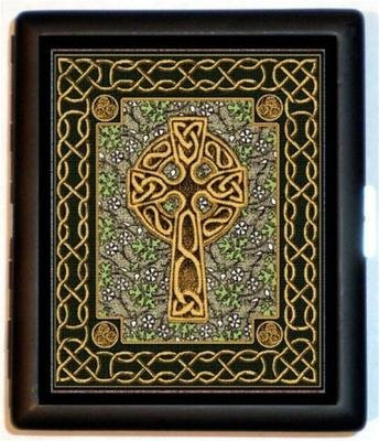 Celtic Cross Pattern Wallet ID Cigarette Case