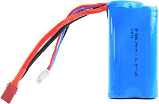 Remote Control Car 7.4V 1500mAh Rechargeable Li-ion Battery for WLtoys 4WD RC Cars 12401 12402 12403 12404 12423 12428 Series Spare Part Replacement Battery Spare Parts
