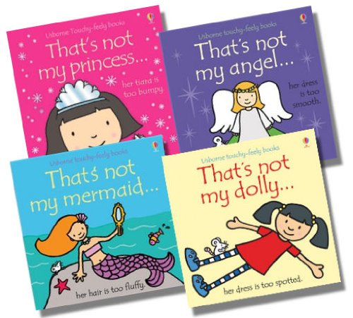Usborne That's Not My... Girl Collection - 4 Books RRP £23.96 (That's not my princess; That's not my angel; That's not my mermaid; That's not my dolly)