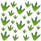 80 Pièces Autocollant Empreinte de Pas de Dinosaure Sticker de Trace de Dinosaure PVC Autocollant Mural Décoration d'Art de Fenêtre pour Décoration de Fête Classe Maison ou Maternelle (3 Tailles)