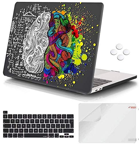 Macbook Pro 13 inch Case 2020 Release A2338 M1 A2251 A2289, iCasso Plastic Hard Shell Case Protective Cover & Keyboard Cover Compatible with New Macbook Pro 13 inch with Touch Bar & Touch ID - Brain