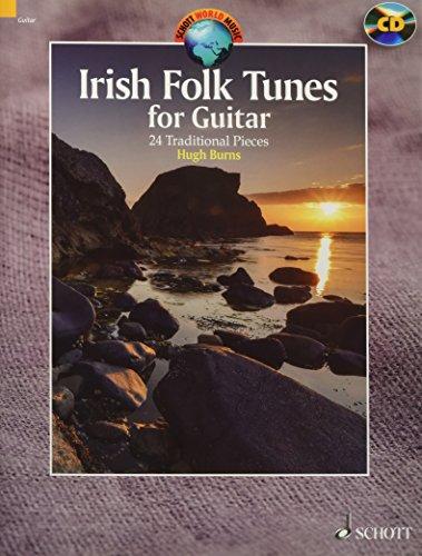 Irish Folk Tunes for Guitar: 24 Traditional Pieces. Gitarre. Ausgabe mit CD. (Schott World Music)