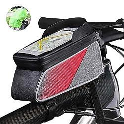 ROTTO Fahrrad Rahmentasche Oberrohrtasche Handytasche Handyhalterung Wasserdicht Sensitive Touch-Screen