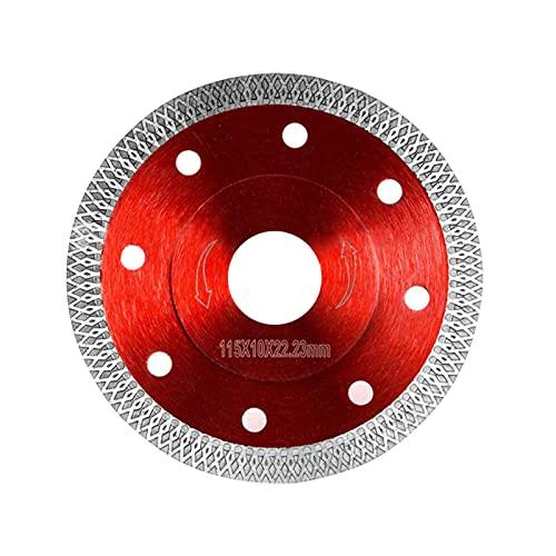 Disco diamante 115 azulejos, disco diamante, corte fino, corte seco, disco de corte diamantado, hoja de sierra circular para azulejos de granito, cerámica, mármol, baldosas calcáreas, madera (115 mm)