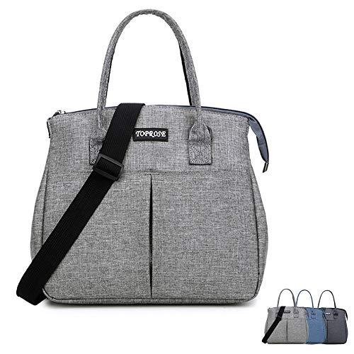 Grand sac à déjeuner isotherme pour femmes, hommes, adultes avec bandoulière amovible réutilisable pour le bureau, le travail, le sport, les voyages