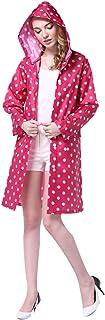 LOSORN ZPY - Chubasquero para mujer con capucha, diseño de lunares