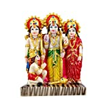 Kartik Ram Darbar (Rama,Sita,Laxman,Hanuman) Murti Idol Statue Resin Hindu God Sculpture 7 inches