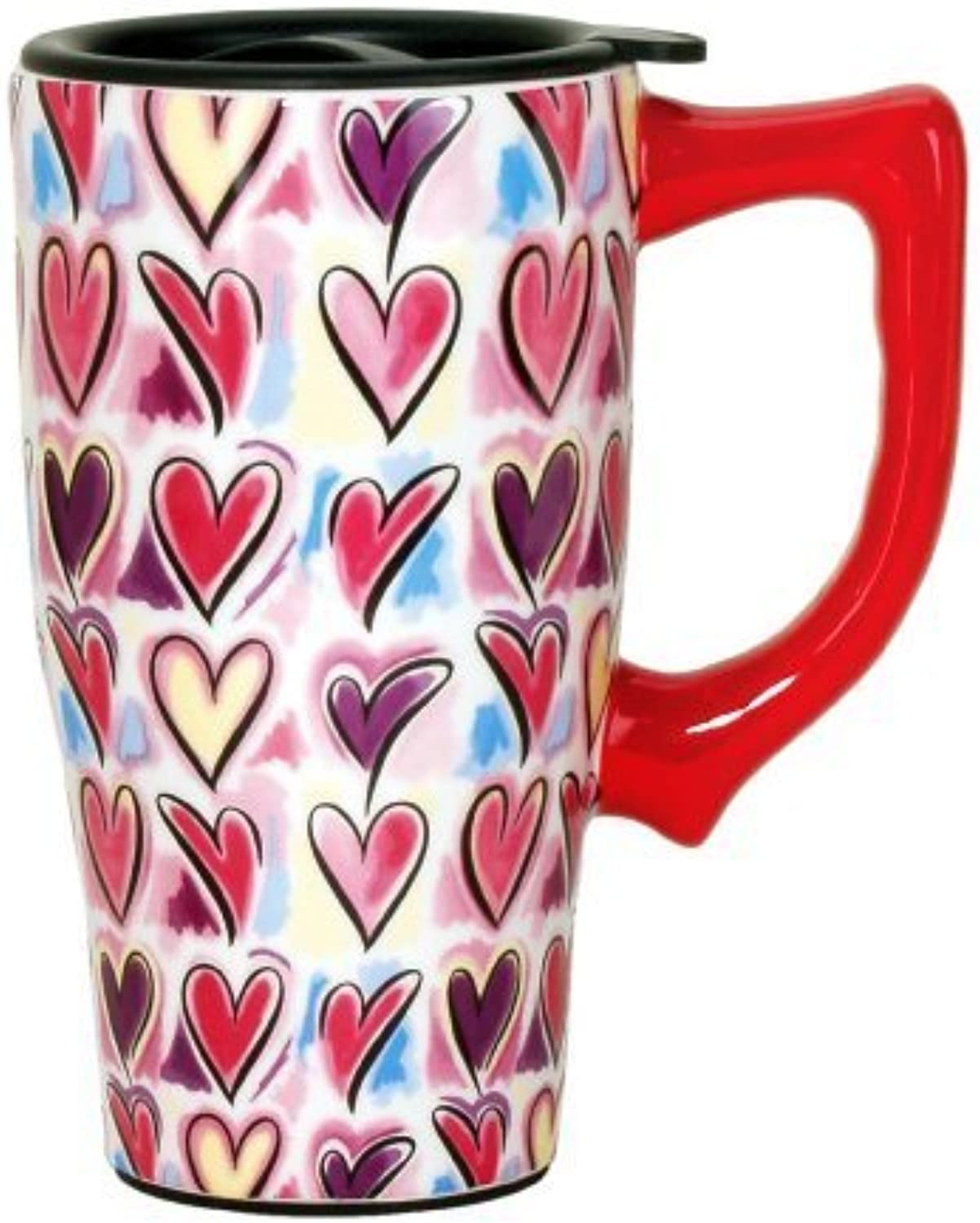 Spoontiques Hearts voyage Mug, Multi Couleuruge by Spoontiques