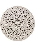 Benuta Plus - Alfombra para Interiores y Exteriores, Color Beige, diámetro de 120 cm, Redonda, para balcón y jardín