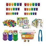 Arcoíris contando Osos Juego de reconocimiento de Color Juego Educativo de Juguetes manipuladores de matemáticas preescolares para niños pequeños
