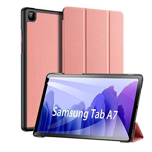 Custodia per Samsung Galaxy Tab A7 10.4 inch 2020, DUX DUCIS Ultra Sottile Magnetica Custodia in Pelle PU Case con Auto Svegliati/Sonno per Samsung Galaxy Tab A7 10.4 2020 (SM-T500/505/507) (Rosa)
