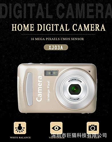 pekdi HD 1080P Home Digital Camera Camcorder 16MP Digital SLR Camera 4X Digital Zoom with 1.77 Inch LCD Screen