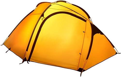 MDZH Tente Double Couche 3-4 Personne Plus Couleur Choisir Tente De Camping Imperméable Ultra-Léger Ultraléger
