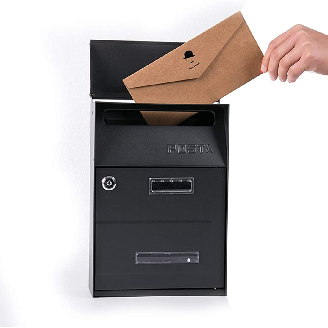 ささやき計画的転用ロックレトロな雨の郵便ポスト投書箱320x210x93mmとレターボックスメールボックス屋外ヨーロッパヴィラ屋外の壁