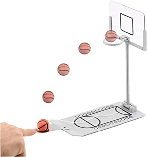 Aidle Mini Foldable Tabletop Basketball Game Toy,Indoor Outdoor Fun Sports Novelty Toy or Gag Gift Idea (Modo 1)