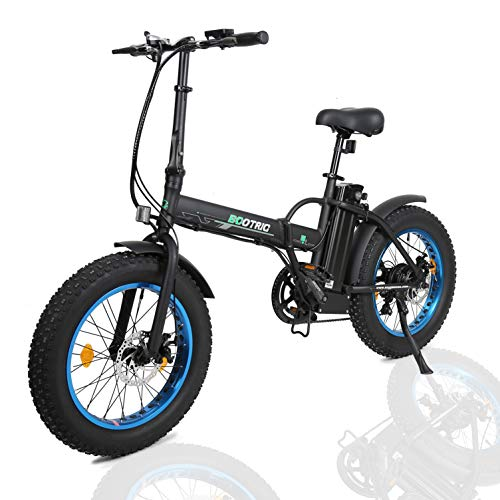 ECOTRIC 20' New Fat Tire Folding Electric Bike Beach Snow Bicycle ebike 500W Electric Moped Electric...