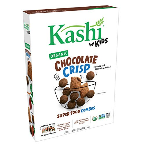 Kashi by Kids Cocoa Crisp Cereal - Organic Vegan Kids Cereal | Fair Trade Cocoa | 10.8 Oz Box (Pack Of 10)