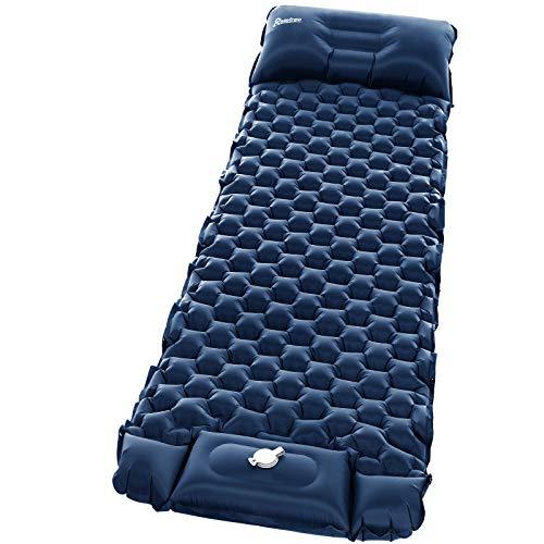 Materassino Campeggio Relefree aggiornato gonfiabile con pompa incorporata, tappetino da campeggio spesso 2,5 pollici, cuscino d'aria impermeabile durevole, Adatto a viaggi, zaini