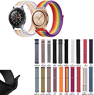 ZOUJIN Nylon Loop Strap Band for Samsung Galaxy Watch 42mm 46mm (Color : 3, Size : 46mm)