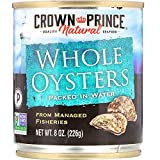Crown Prince, Natural Whole Boiled Oysters in Water, 8 oz