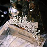 """""""N/A"""" Oro Rosa/Super Fairy Forest Crystal Crown Tocado Nuevo Crystal Estilo Coreano Hada Tocado De Boda Novia Super Fairy Crown Adult Birthday Princess Atmósfera(Color:Oro Rosa)"""