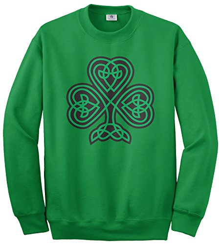 Threadrock Women's Celtic Shamrock Sweatshirt S Kelly Green